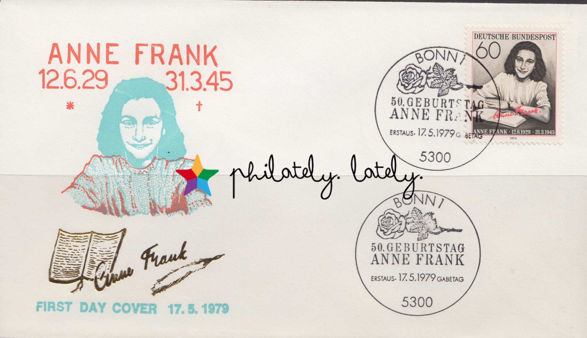 002_Federal_Germany_Anne_Frank_FDC