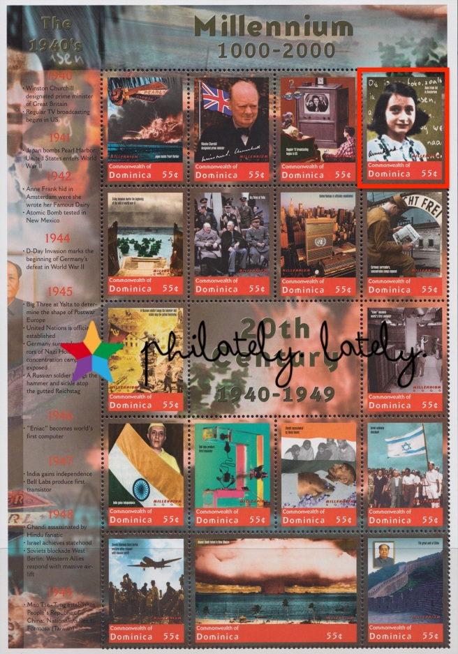 005_Commonwealth_of_Dominica_Anne_Frank_Millennium_Sheet.jpg