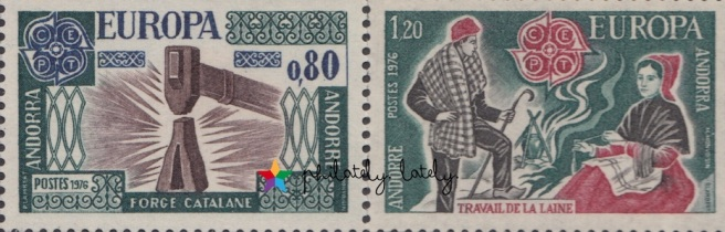 013_French_Andorra_Europa_1976_Handicrafts_Stamps