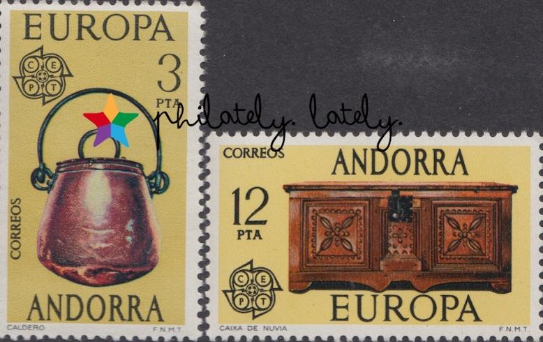 014_Spanish_Andorra_Europa_1976_Handicrafts_Stamps