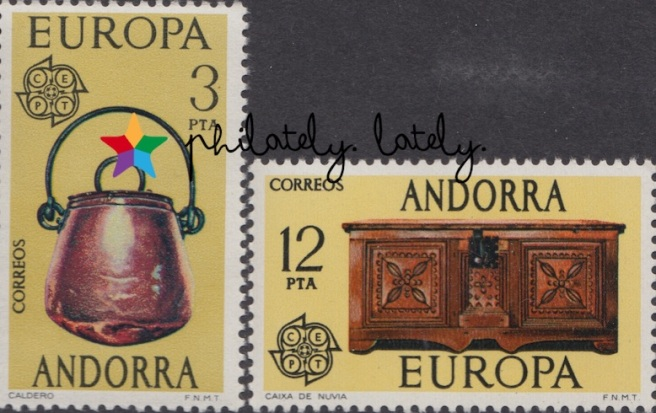 014_Spanish_Andorra_Europa_1976_Handicrafts_Stamps