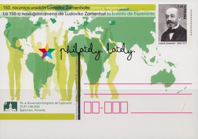 019_Poland_Postcard_Esperanto_on_Stamps