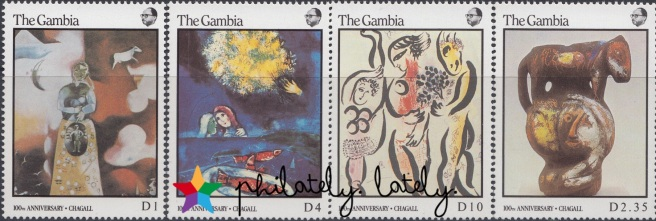 022_The_Gambia_Chagall_Stamps